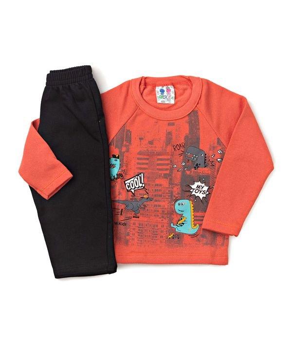 Conjunto Kids Silk Dino Laranja W.Kids 12fea0c8b2e