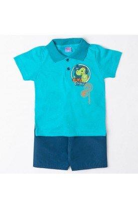 Conjunto Bebê Silk Robô Verde Wilbertex Kids 67461383150