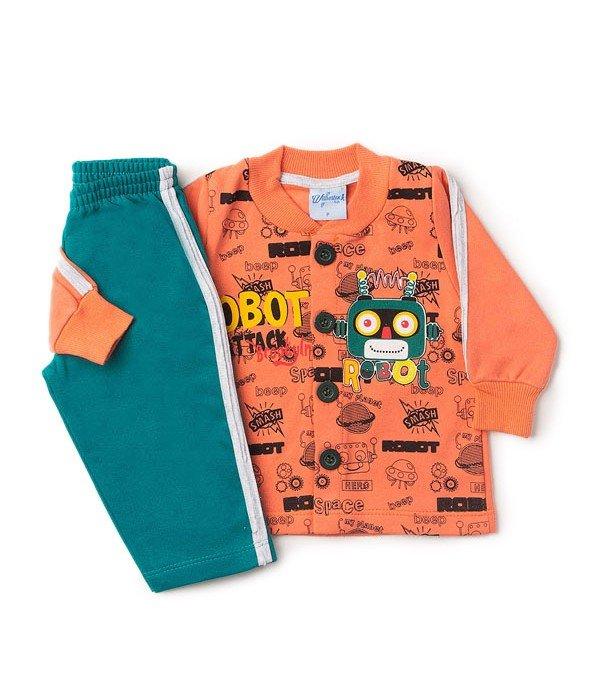 Conjunto Bebê Silk Robô Laranja Wilbertex Kids. 0 avaliação - Faça uma  avaliação · 4053b 7a5e1154718