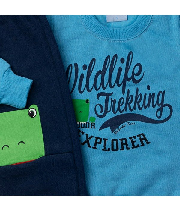 Conjunto Kids Silk Sapinho Azul Wilbertex Kids a2784494a61