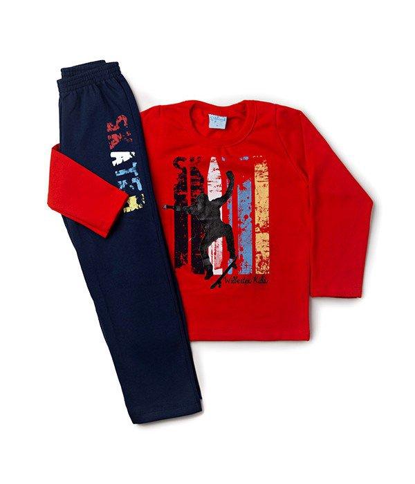 Conjunto Infantil Silk Skater Vermelho Wilbertex Kids. 0 avaliação - Faça  uma avaliação · 4082 1 bf16af53c6e